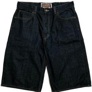 Levis 579 Mens Shorts W38 Baggy Dark Wash Blue